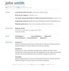 Free Word Resume Template Download Executive Resume Template Free
