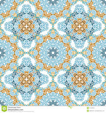 seamless pattern in mosaic ethnic style stock photography  image