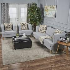 modern fabric sofa set. Milton Mid Century Modern 3-piece Fabric Sofa Set By Christopher Knight Home