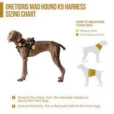2 Hounds Harness Size Chart Onetigris Mad Hound Rugged K9 Vest Harness For Medium Large Dog
