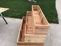 how to build a tiered garden planter box chris loves julia tiered garden bo