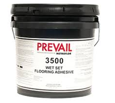 a solvent free water based acrylic adhesive for installing luxury vinyl tile and plank prevail 3500 provides an exceptional wet set bond over a variety