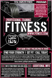 Training Flyer Fitness Flyer Template Postermywall