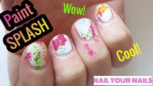 Paint Splash Nail Design Paint Splatter Nail Art No Mess Method Easy Tutorial