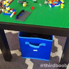 Ceres from designs by ceres is going to show you how to take an ikea coffee table and in a snap transform it into a glam piece… plus she shares some ideas to kick it up even further such as adding marble or contact paper of your choice to the bottom piece. 28 Lego Tables With Storage We Love Spaceships And Laser Beams