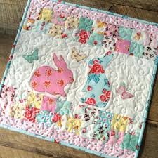 Quilts & bunny applique pillow and quilt 16 Adamdwight.com