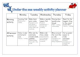 Under The Sea Themed Weekly Activity Planner Week 2 Eyfs Eyfs