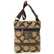 Coach Legacy Swingpack In Signature Small Khaki Crossbody Bags AUY