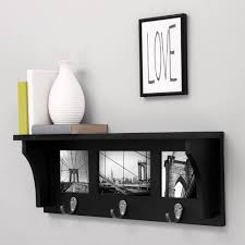 Wall Shelf Coat Rack Wall Shelf Coat Rack with Picture Collage 100 Metal Hooks 100 inch 26