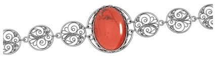 Приволжский Ювелир <b>Браслет с 1 яшмой</b> из серебра 663912-YS ...