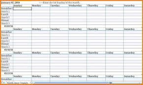 Meal Planning Calendar Template Meal Planning Calendar Template ...