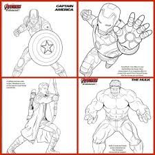 Small Picture Marvel Avengers Coloring Pages for the Kids Experiencing Parenthood