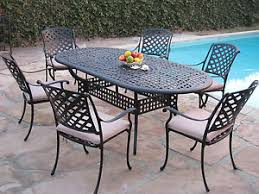 Kawaii Collection Outdoor Cast Aluminum Patio Furniture 7 Piece