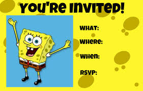 spongebob invitations com spongebob invitations for a new style invitatios card by adjusting a very glamorous invitation templates printable 3