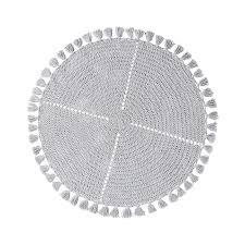 adairs kids tassel macrame grey rug