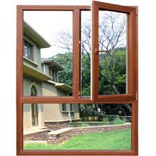 french aluminum wooden windows with fixed glass