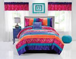 purple pink teen room