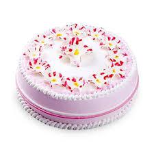 Cake Design Shopping Online Pink Vanilla Cake Half Kg Kgs Cak105