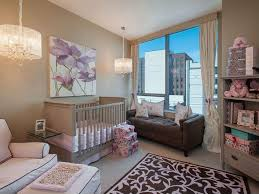 outstanding baby nursery chandelier shining room interior space big window plus curtain closed calm bench