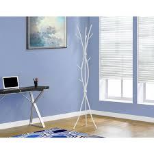 8 Hook Coat Rack Monarch Specialties White 100Hook Coat RackI 100 The Home Depot 33