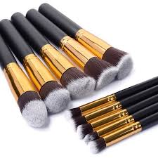10pcs set professional makeup brushes foundation blush brushes clic matte black concealer brushes kit cosmetic tools in makeup scissors from beauty