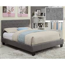 Sutton Tufted Linen Platform Bed  Free Shipping Today  Overstock Linen Platform Bed