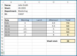 timesheet calculator spreadsheet excel timesheet formula 934