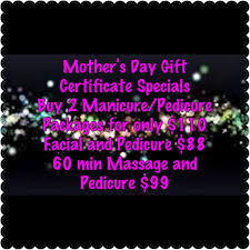 we are open for mother s day but have limited appointments available now call to book or pop in to grab a gift certificate