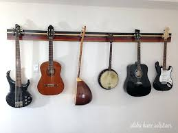 diy guitar rack aloha home solutions guitar wall rack diy multiple guitar stand plans