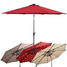 red outdoor umbrellas ft patio solar umbrella with crank and led lights red outdoor umbrella target