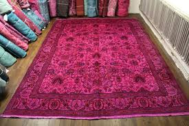 fashionable overdyed persian rugs pink rugs overdyed persian rugs uk