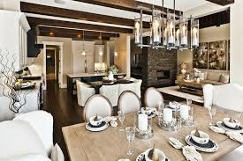 bubble light chandelier dining room modern with chairs abstract window