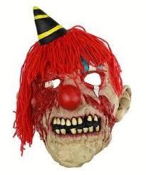 <b>Halloween Horror Plush Bloody</b> Clown Latex Mask Haunted ...
