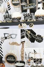 birthday party supplies black and gold party theme for any age