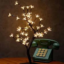 details about 48led cherry blossom tree night light table lamp party xmas home decor