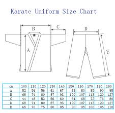 Karate Uniform Size Chart Cheap Custom Kyokushin Karate Uniform Karate Kimono Gi Buy Kyokushin Karate Gi High Quality Karate Uniforms Sales Karate Suit On Alibaba Com Product