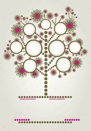 vector family tree design with frames stock vector