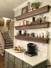 wood shelves floating