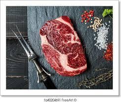 raw ribeye steak.  Raw Free Art Print Of Raw Fresh Meat Ribeye Steak Intended Ribeye Steak T