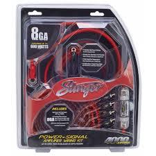 amplifier wiring kits stinger 8ga complete wiring kit