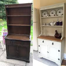 redoing furniture ideas. Chalk Painted Welsh Dresser Makeover Before And After Paint, Upcycled Furniture In Antique White. Refurbishing Redoing Ideas G