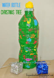 Christmas Decorations Made Out Of Plastic Bottles Water Bottle Christmas Trees fun craft for the kids FSPDT 48