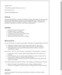 Consultant Cv Professional Implementation Consultant Templates To Showcase