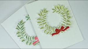 How To Make Clean Simple Christmas Cards Youtube