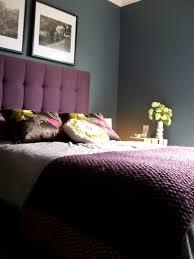 Purple And Blue Bedroom Blue Bedroom Dulux Steel Symphony 1 Paint Purple Tufted Ava Bed