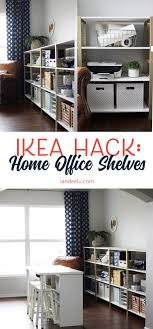 ikea office shelving. over 11 linear feet of chic shelving made from super cheap ikea storage shelves this ikea office