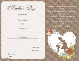 Special Certificates Mothers Day Special Certificatestreet Com
