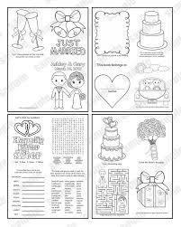 Mini Afdrukbare Personalized Wedding Kleurplaat Activiteit Etsy