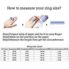 Ring Size Chart Circumference Mm Amazon Com Chic Joias Womens Girls Wave Cut Rings 925