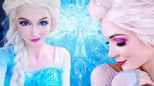 elsa makeup tutorial disney s frozen elsa in real life transformation